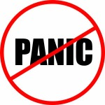 """Don't panic"" sign"