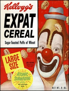 Graphic of Expat Cereal box