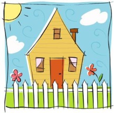 Child's drawing of a home