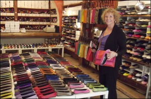 Louise in shoestore