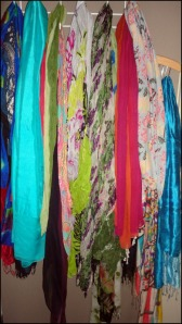 Photo of Louise's scarves