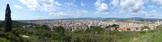 panorama of Girona