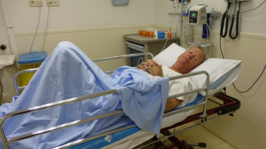 photo of tom in hospital bed