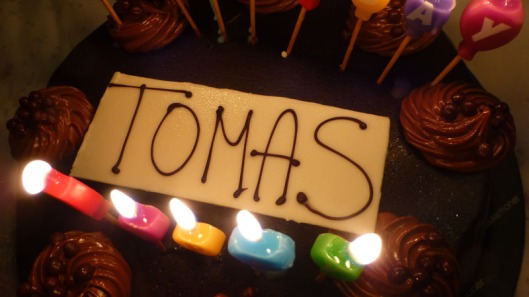 Photo of birthday cake decoration