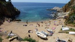 The south beach at Tossa de Mar