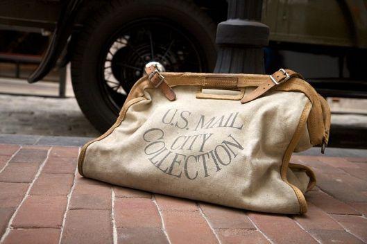 Photo of antique mailbag