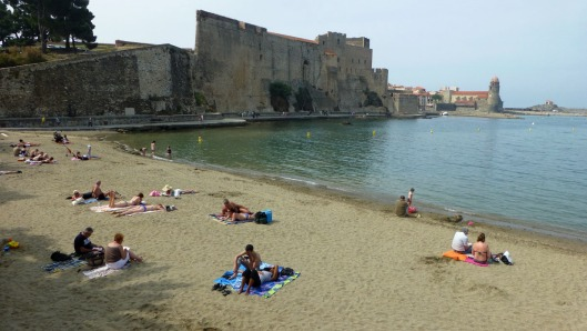 The beach at Collioure