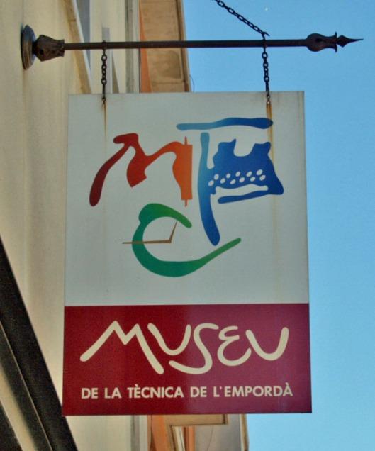 sign for the Museu de la Tècnica de l'Empordà