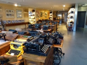 typewriters at the museum