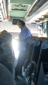 Our beach bus attendant.