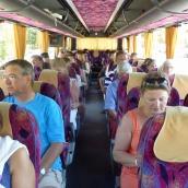 Load 'em and lead 'em: inside our bus.