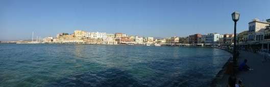 panorama of Chania harbor