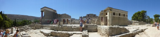 A panoramic view of Knossos. Click to enlarge (all photos)