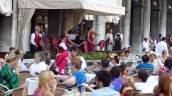 An orchestra plays at the Florian