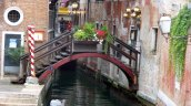 Bridge to picturesque restaurant