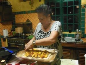 Dolores Brittingham in her gorgeous kitchen