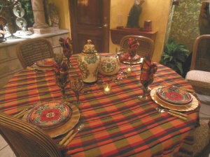 The dining table