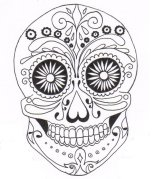 mexican_sugar_skull_by_connie101-d4d3l60