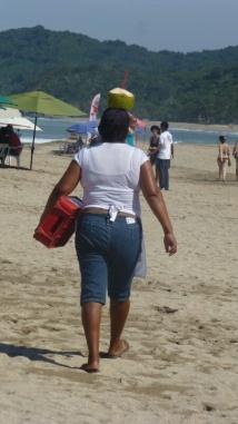 Coco beach vendor