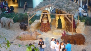A life-size Nativity graces the Andaras Mall