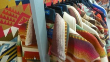 Colorful jackets at the Pendleton Woolen Mills outlet store