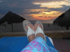 My feet. My beach. My sunset.
