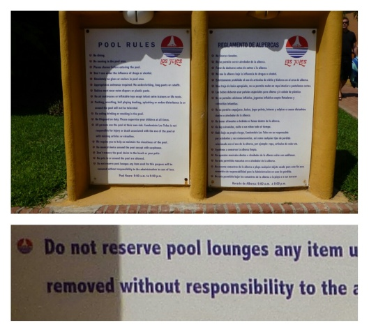Pool rules. It sez so right here.