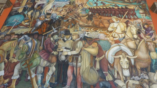 Rivera mural at the National Palace in Mexico City