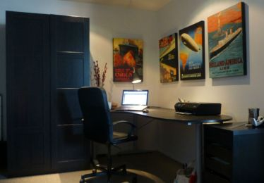 Tom's office (with monolithic wardrobe)