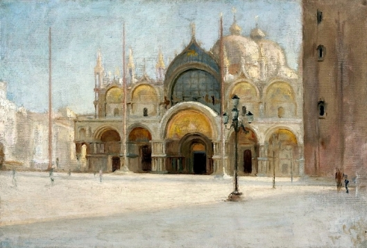 St. Mark's Square in Venice by Jan Ciągliński. Source: Wikimedia Commons.