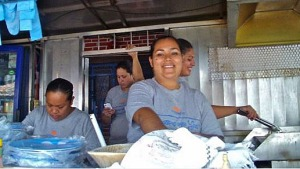 The charming ladies at Marisma's Taco Stand, Puerto Vallarta, Mexico.