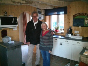Tom and Christine in her spectacular kitchen