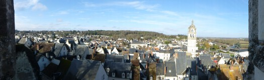 The town of Loches as seen from the chateau