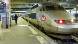 The French TGV, which whisked us from Paris to the country