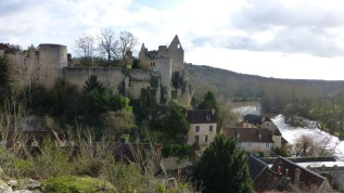 The upper town overlooks the river Anglin