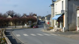 Rush hour in the center of town