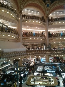 Interior of the department store Galeries Lafayette