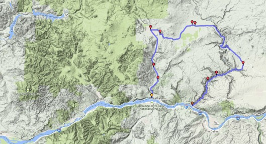 One of two dozen motorcycle routes I've been planning