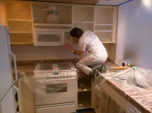 Masking the kitchen