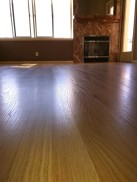 Living room floor refinished, paint done, fireplace rebuilt.