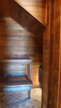 The sauna. I have a heart condition. The sauna may become storage.