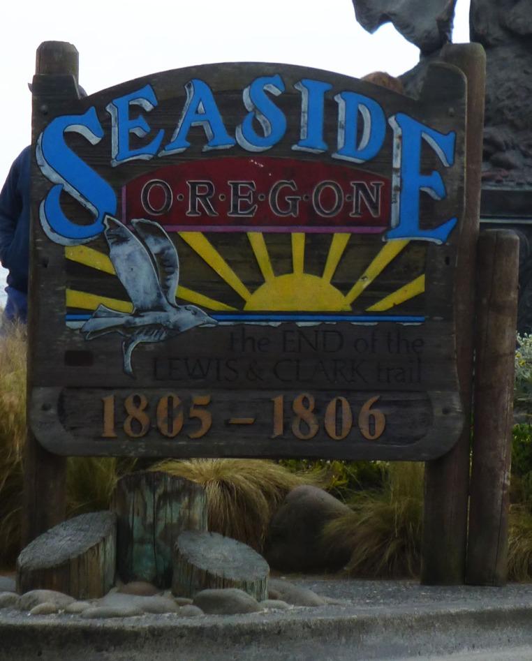 Seasign welcoming sign