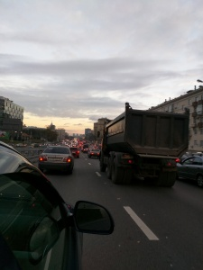 Rush hour in Moscow