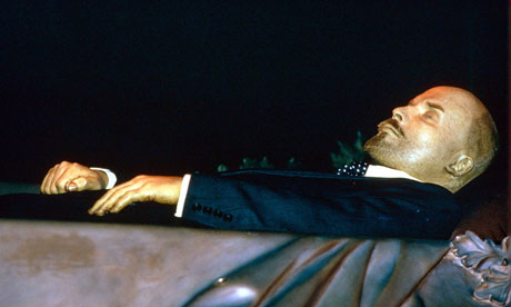 Lenin's corpse in perpetual repose. He's freshened up every now and then, but his is not the afterlife most of us wish for