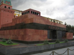 Lenin's Tomb. Putin prefers to stand on the ground.