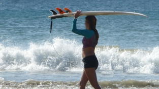 Babes and boards on Tamarindo Beach