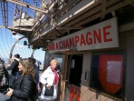 Buying Champagne at the top of the Eiffel Tower