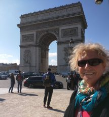At the end of the Champs, the Arc de Triomphe