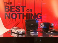 Trinkets for sale in the Mercedes showroom