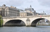 Pont du Carrousel with the Louvre in the background
